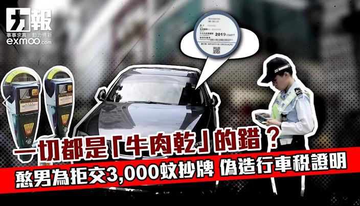 憨男為拒交3,000蚊抄牌 偽造行車稅證明